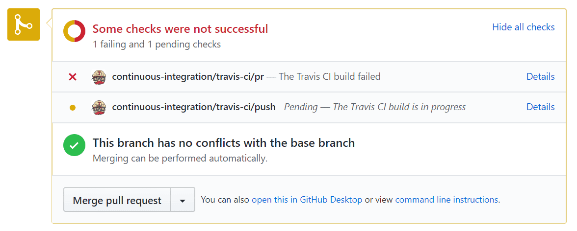 Travis failed image